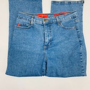 NYDJ Tummy Tuck Capris Jeans Womens 10 Blue Denim